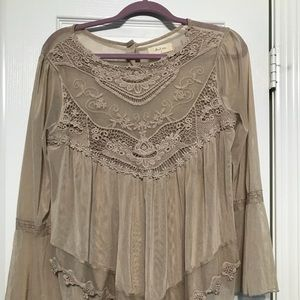 Altar'd State Tan Dress Top